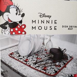 Disney Minnie Mouse Dish Drying Mat NWT